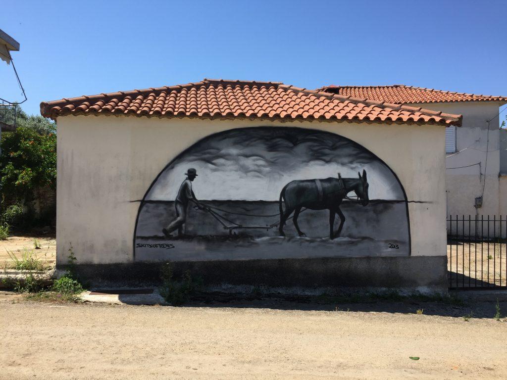 Graffiti von der Feldarbeit