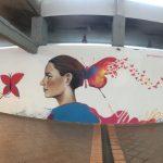 Graffiti von Skitsofrenis in der Markthalle