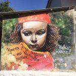 """Foto des Graffitis """"Willkommen in Glyfada"""" von Skitsofrenis"""