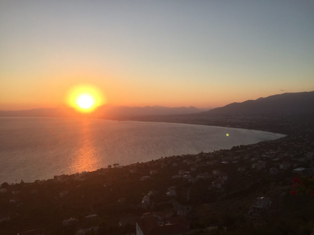 Sonnenuntergang, Kastraki-Meteora, Verga, Kalamata