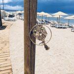 nette Deko in der Beachbar Namaste in Petalidi