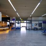 Leere Flughafenhalle Kalamata